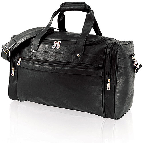 """Sport Travel 21"""" Carry-On Duffel Bag, Black by Traveler's Choice"""