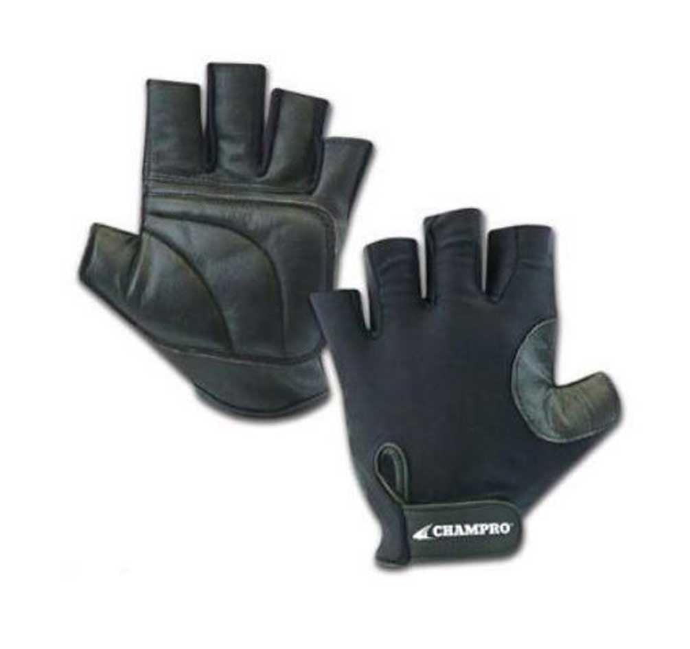 CHAMPRO Padded Palm Baseball/Softball Catchers Glove  A058 (Black, One Size)