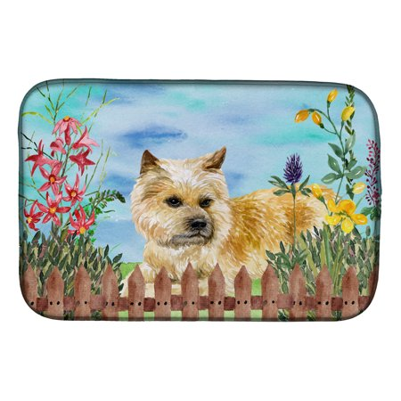 Cairn Terrier Silhouette - Cairn Terrier Spring Dish Drying Mat