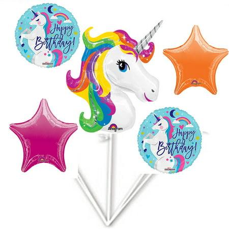 Unicorn Happy Birthday Foil Balloon Bouquet