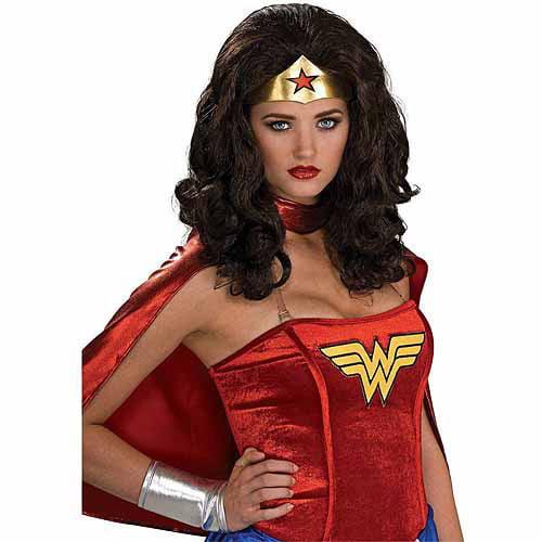 Wonder Woman Wig Adult Halloween Accessory