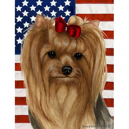 - Yorkie Show Cut - Best of Breed  Patriotic II Garden Flags