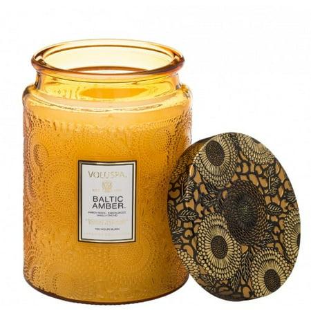 Voluspa Baltic Amber Large Glass Jar Candle Limited 16 oz Cedarwood 16 Oz Jar