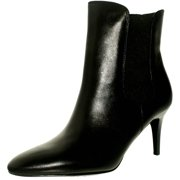 Lauren Ralph Women's Pashia-Bo-Drs Leather Black Ankle-High Boot - 7.5M