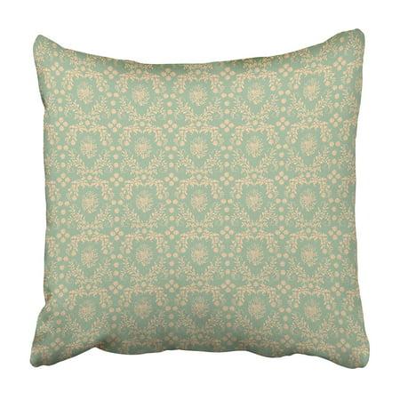 CMFUN Green Pale Damask Pink Pastel Royal Aged Antique Baroque Beautiful Beauty Pillowcase 20x20 inch