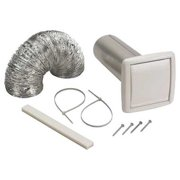 BROAN WVK2A Wall Vent Kit, Flexible Duct, 5 ft. L