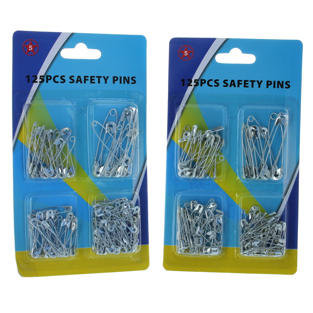 250 pc Metal Safety Pins Seamstress Craft Quilting Sewing Clothing Repair TS189