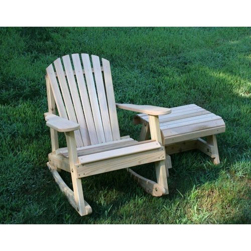 Creekvine Designs WRFKEYRSETCVD Cedar American Forest Adirondack Rocker and Side Table Set
