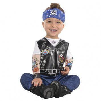 Biker Babe Costume (Amscan Baby Biker Halloween)