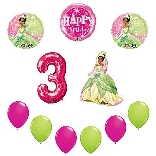 Disney Princess Tiana 3rd Birthday Party Balloon sullies decorations