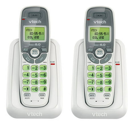 VTech CS6114 (2 Pack) Cordless Phone With Backlit LCD Display & Keypad