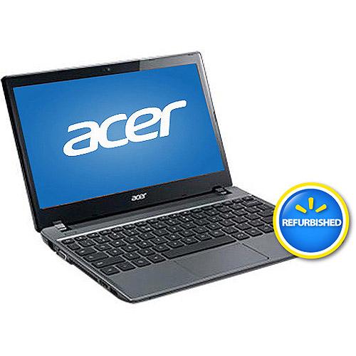 "Acer Refurbished Iron Gray 11.6"" C710-2834 Chromebook PC with Intel Celeron 1007U Dual-Core Processor, 2GB Memory, 16GB SSD and Chrome OS"