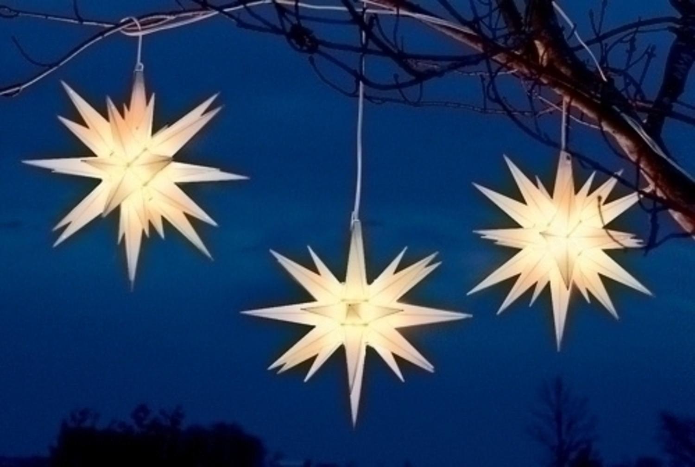 14 white moravian star hanging christmas light walmartcom