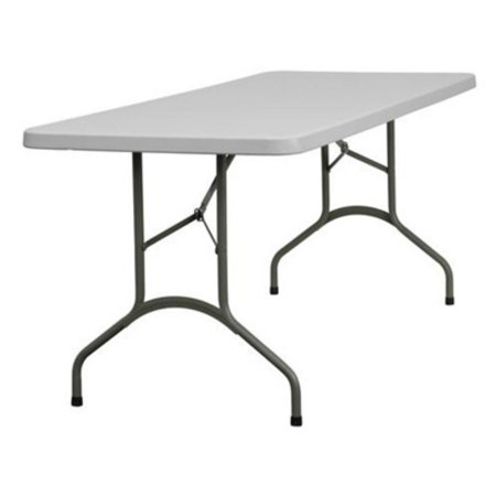 Flash Furniture 30 X 72 Plastic Folding Table White Walmartcom