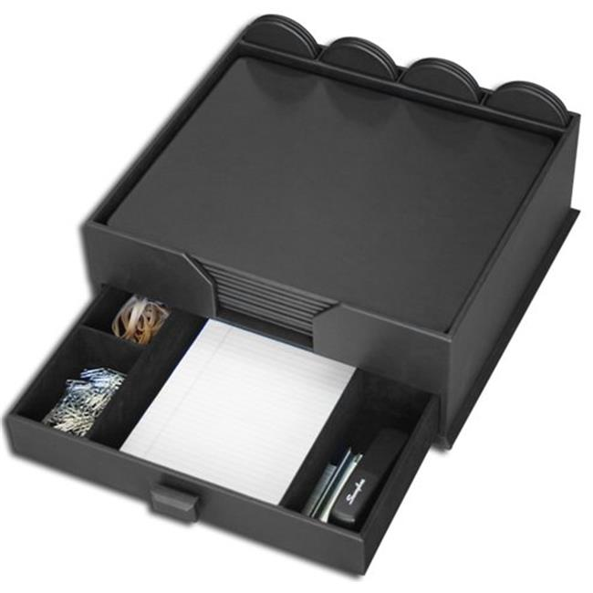 Dacasso D1060 Black Leatherette 23-Piece Conference Room Set with Integrated Organizer
