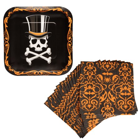 Top Halloween Party Colleges (Party Creations (24 Piece) Top Hat Terror Halloween Decorations 7 Inch Party Plates And Napkins Set Halloween Party)