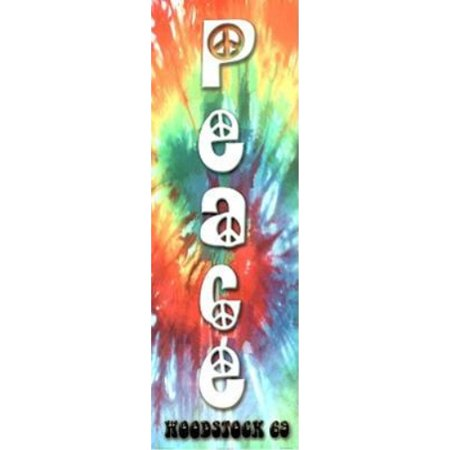 Peace Woodstock 69 36x12 Art Print Poster   Peace Sign New York Tie Dye 1969
