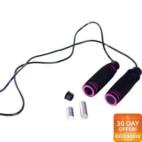 Tone Fitness Adjustable Weighted Jump Rope
