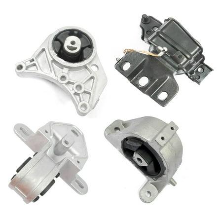 Engine Motor & Trans. Mount Set 4PCS for 2001-2007 Dodge Caravan/Grand Caravan 3.3/ 3.8L EM2926, EM2928, EM2925, EM2927 Dodge Grand Caravan Engine Cooling