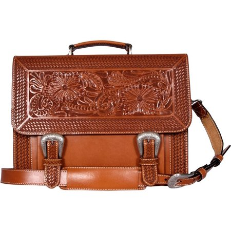 3D Womens Western Briefcase Leather 15 1/2 x 12 x 4 Natural BC103