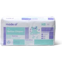 MADE OF Better Baby Diaper - No Dyes, No Chlorine, Non-Toxic - Size Newborn (4-Pack - 144 count)