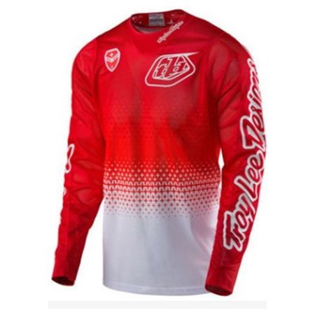 Men's Cycling Breathable Long Sleeve Jersey Top ShirtColor:Red Size:L