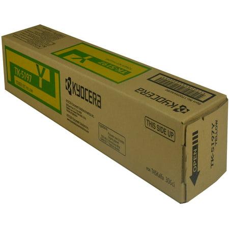 OEM Kyocera Mita TK-5197Y (1T02R4AUS0) Toner Cartridge, YELLOW, 7K YIELD - for use in Kyocera Mita KM 306CI printer, KM 307CI Km C2230 Yield