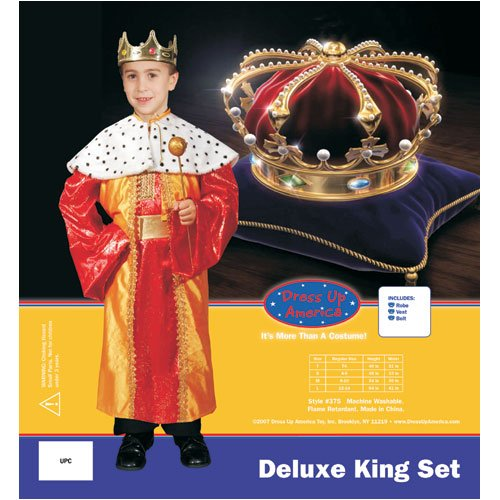 Deluxe King Set Costume Set - Large 12-14