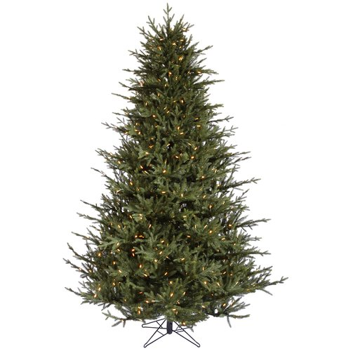 The Holiday Aisle 8.5' Itasca Frasier Christmas Tree with 1000 LED Warm White Lights with Stand