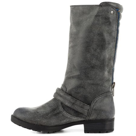 Just Fab Womens Gilora Closed Toe Ankle Riding Boots