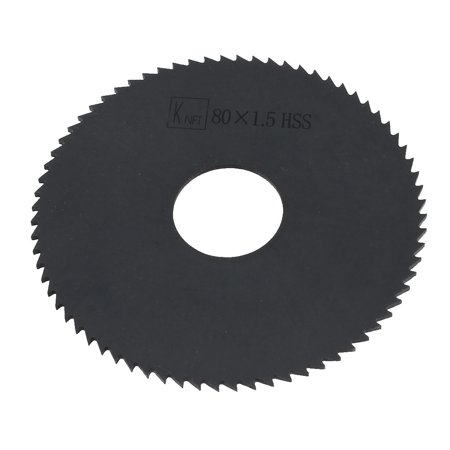 Unique Bargains Unique Bargains 80mm x 1.5mm x 72Teeth Black HSS 16mm Hole Diameter Saw Blade for Carpentry