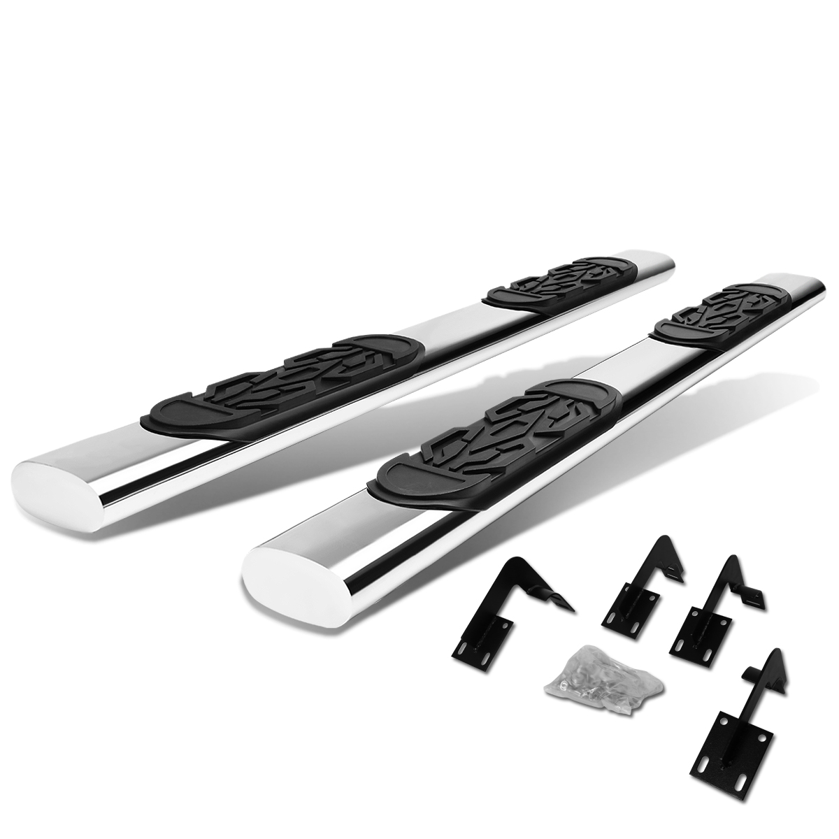 """For 99-16 Ford Super Duty Crew Cab Stainless Steel 6"""" Side Step Nerf Bar Running Board F-250/F-350/F-450/F-550 Left+Right 11 12 13 14 15"""