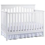 Fisher-Price Ayden 4-in-1 Fixed-Side Convertible Crib, White