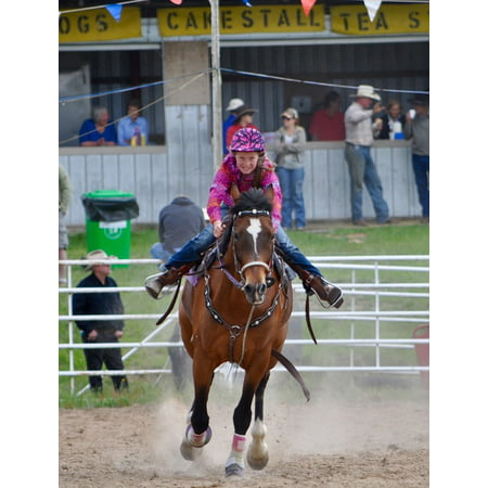 LAMINATED POSTER Rodeo Sport Cowgirl Horse Barrel Racing Woman Poster Print 24 x