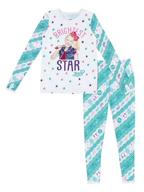 JoJo Siwa Poly Spandex Top Pant Thermal Underwear Set, (Little Girls & Big Girls)