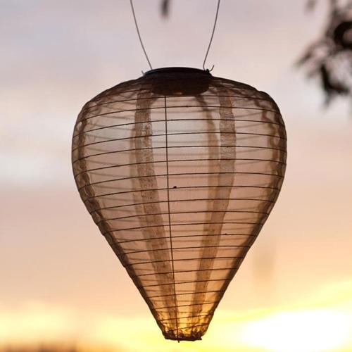 LSD Paper Lanterns Teardrop Nylon Lantern Solar Powered C...