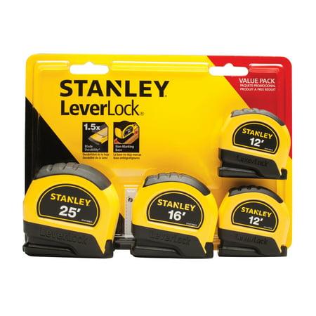 Stanley Bostitch Long Tape Measure - STANLEY 95-871 4-Pack LeverLock Tape Measures