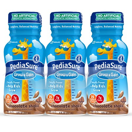 PediaSure Grow & Gain Kids' Nutritional Shake, with Protein, DHA, and Vitamins & Minerals, Chocolate, 8 fl oz,