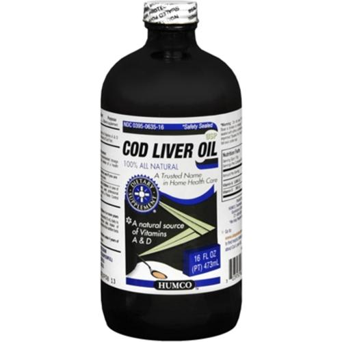 Humco Cod Liver Oil USP 16 oz (Pack of 2)