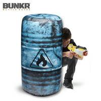 BUNKR Build Your Own Battlezone 1 Piece Inflatable Oil Barrel for Blaster Battles
