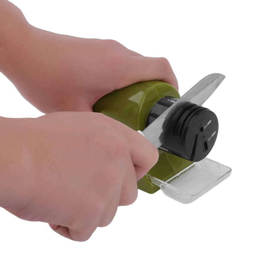 Electric Kitchen Knife Scissors Cordless Knife Sharpener Sharpening System by musiccrazyor