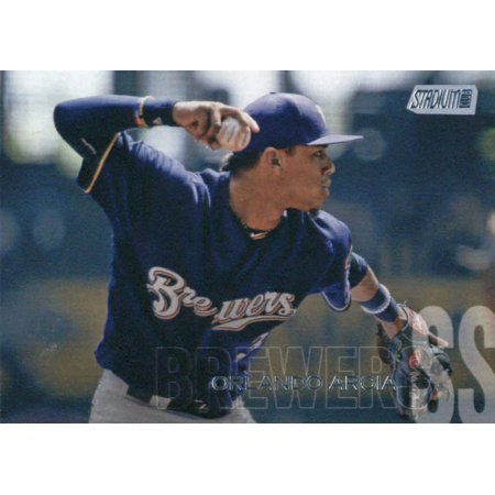 2018 Topps Stadium Club #235 Orlando Arcia Milwaukee Brewers Baseball Card - *GOTBASEBALLCARDS