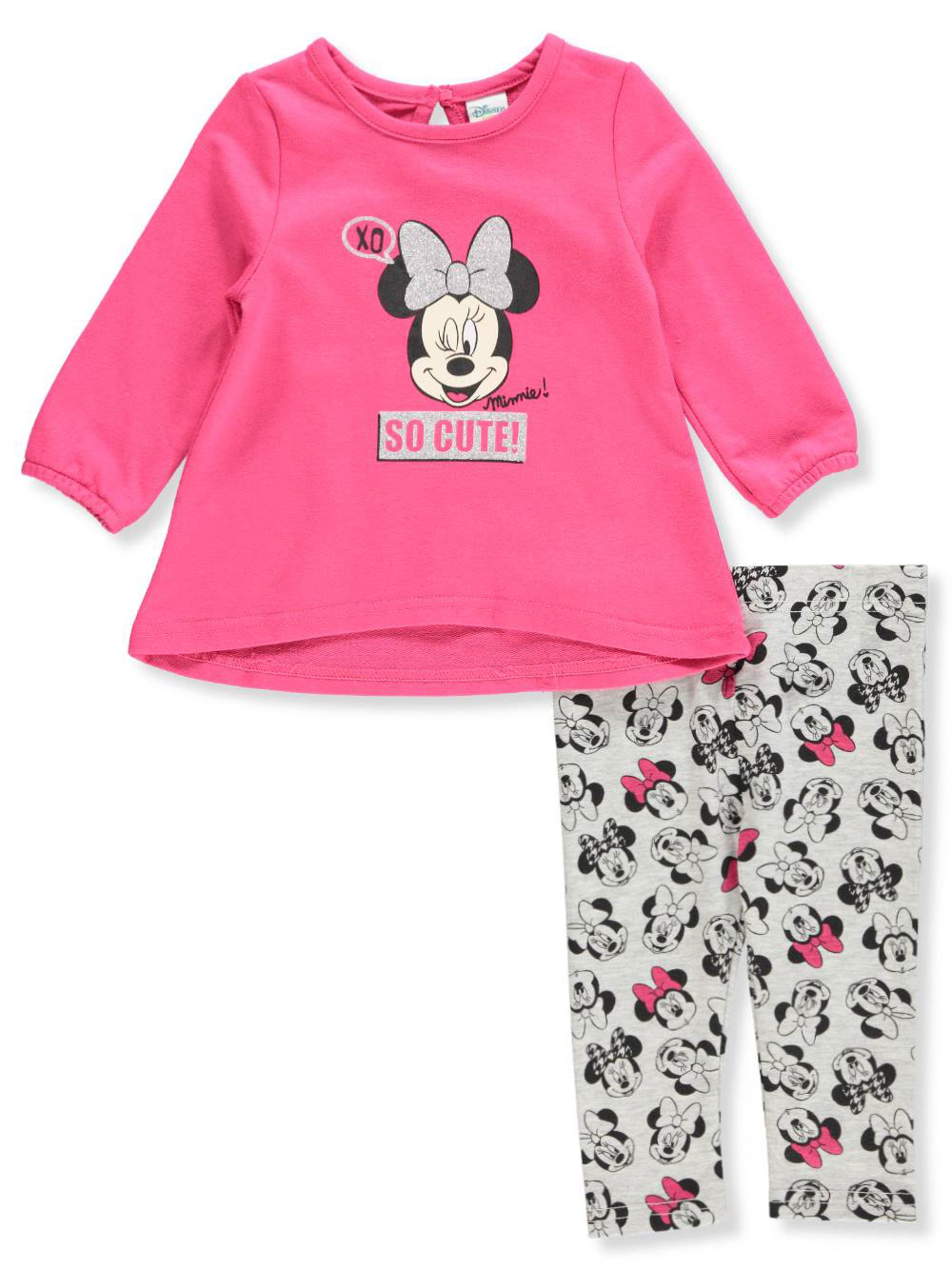 Disney Minnie Mouse Baby Girls' 2-Piece Leggings Set Outfit