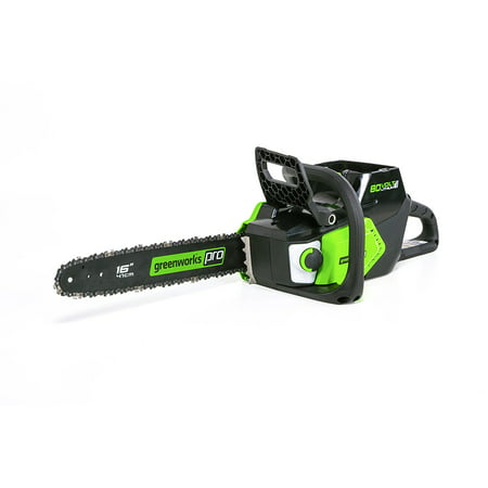 "Greenworks Pro 16"" 80V Brushless Chainsaw Battery Not Included CS80L01"