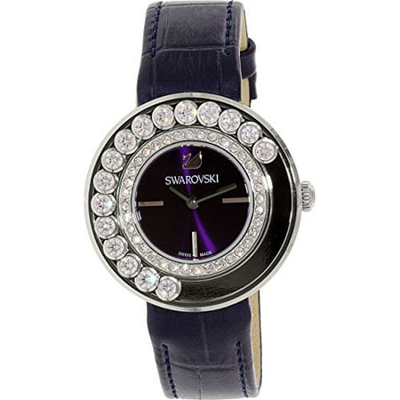 Women's Lovely Crystals 5027205 Black Leather Swiss Quartz Watch (Crystal Dress Swiss Quartz Watch)