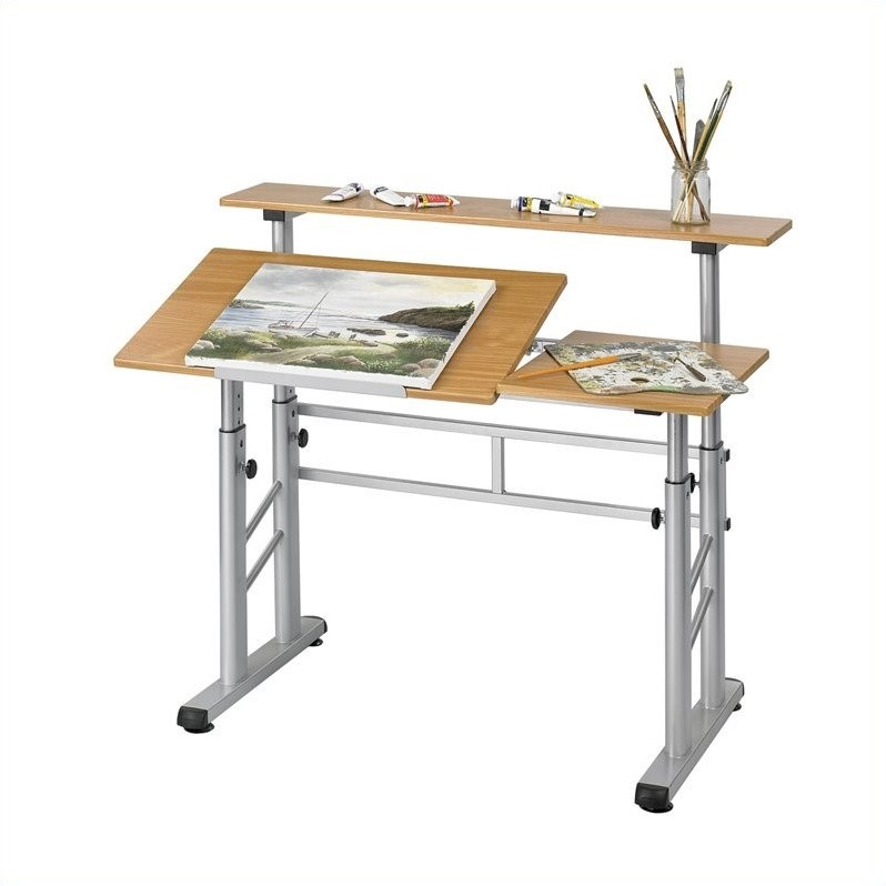Safco Height Adjustable Split Level Drafting Table - image 1 de 2