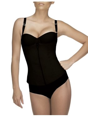 Vedette Felice Firm Compression Classic Corset with Zipper 400-Black-2XL