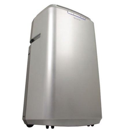 Dual Surface Corner Unit - EdgeStar AP14009COM Silver Server Room Cools Up To 525 Square Feet Dual Hose Portable Air Conditioner for Larger Rooms