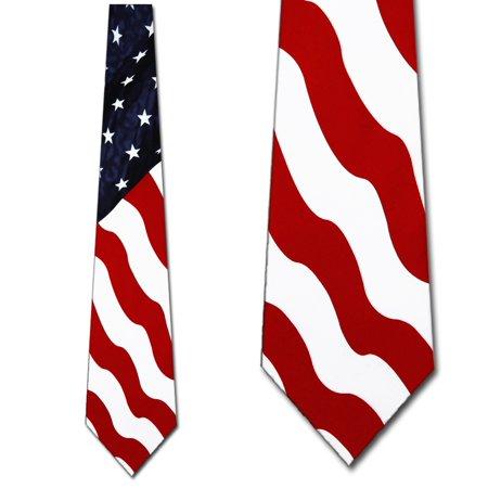 - US Flag Giant Vertical  Necktie Mens Tie by Tieguy