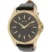 Armani Exchange Men's Drexler AX2636 Black Leather Quartz Dress Watch